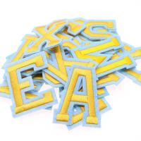 China Alphabet Embroidered Letter Patches 2 In 1 Sticker Iron On Self Adhesive Badges wholesale