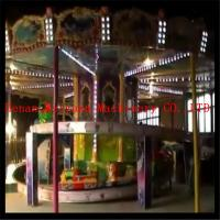 China new fashion 10 cars  carousel model family kids rides mini roller coaster for sale wholesale