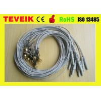 China Grey Color DIN1.5 socket EEG cup cable, Ear-clip electrode eeg cable Gold plated copper wholesale