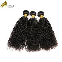China 100% Unprocessed Kinky Curl Malaysian Virgin Hair Extensions Natural Black wholesale