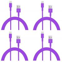 China colorful USB to 8PIN Charging and Data sync cable cord for 5 5s 5c iPod Touch 5 Purple wholesale
