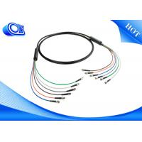 China Black  ST Type Tactical Fiber Optic Cable Patch Cord  for Military Application wholesale
