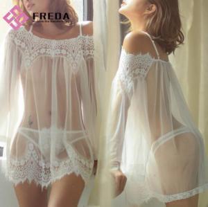 China Sexy Lingerie Women Seductive Lace-Edge Perspective Pajamas Manufacturer wholesale