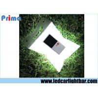 China White Waterproof Outdoor Inflatable Folding Solar Camping Lamp , Rechargeable Solar Lantern wholesale