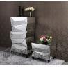 China Fashionable Mirror Furniture Set Decorative Full Flower Mirror Stand wholesale