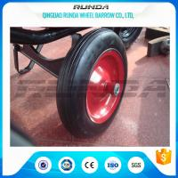 """China Centered Hub Heavy Duty Pneumatic Wheels 14""""X4"""" Ball Bearing For Air Compressor wholesale"""