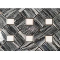 Hilton Grey Marble Natural Stone Mosaic Tile For Corridor , Anti - Scratch