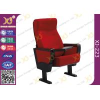 China Stain Proof Full Upholstered Red Velvet Fabric Chairs For Stadium / Lecture Room wholesale