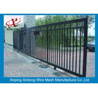 China Professional Automatic Sliding Gates Galvanized Pipe Material 1m Height wholesale