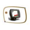 China DC24V Black Plastic Marine GPS Fish Finders 208×215×87mm KG-F306 wholesale