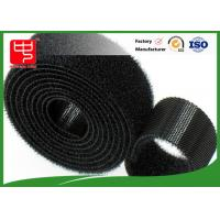 China Black hook and loop tape strong gripping power double sided hook and loop roll Water resistance wholesale