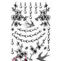 China Customizable temporary Water transfer flower body tattoo Sticker for computer, glass, door wholesale