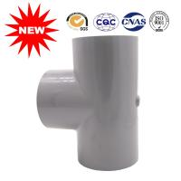 China Customized 90 Elbow PVC Tee Pipe Fittings For Water , Pvc Pipe Tee Fittings wholesale