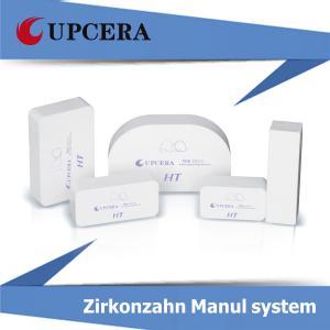 China Сопротивление изгибу ручной системы 1400Mpa HT высокого Zirconia Translucency белое пустое wholesale