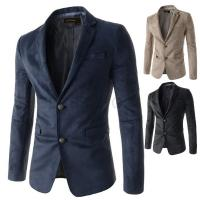 China Factory stock wholesale cheap high quality mens slim fit suede blazer jacket wholesale