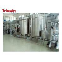 China Milk Pretreatment Pasteurized Milk Processing Line 10 Tons /D Up To 100 Tons /D wholesale