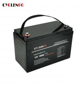 China Black Color Bluetooth Lithium Li Ion Battery Pack Self Heated Lifepo4 12V 100Ah on sale