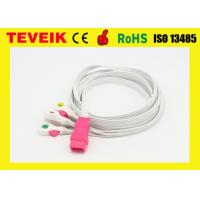 Disposable 5 leads ECG cable / ECG leadwire  with clip,IEC,6pin for all brand