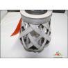 China Cross Weaving Solar Garden Lights / Solar Rattan Basket 33.8 X 33.8 X 51CM wholesale