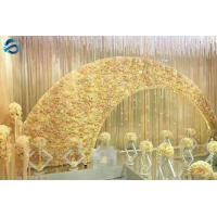 Buy cheap Light Yellow Wedding Arch Decorations Warm Style Vivid Lifelike Effect from wholesalers