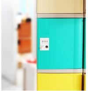 China Vandal Resistant Green School Lockers , Swimming Pool Small Plastic Lockers wholesale