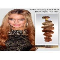 "China 10"" - 26"" Brazilian Ombre Remy Human Hair Extensions Loose Wave 1B / 27 Blonde Hair wholesale"