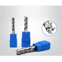 China Aluminium Copper Processing Spiral Carbide End Mill HRC55 3 Flute Long Cutting wholesale