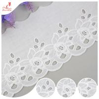 China Cotton Netting Trim / Custom Embroidered Lace Trim By The Yard For Decoration wholesale