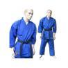 China Blue V Neck Karate kimono GI Karate Uniform with Customized Logo wholesale
