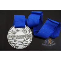 Buy cheap Championship Finisher Sports Marathon Events Metal Award Medals Die Casting With Blue Ribbon from wholesalers