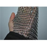 China Square Stainless Steel Chainmail Scrubber With Non-toxic , Cast Iron Cleaner on sale