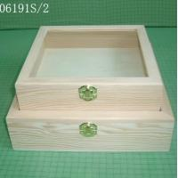 China Wooden gift box, shadow box, glass window or acrylic window  wholesale