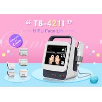 China Exact depth Five Heads Ultrasound HIFU Face Lifting Machine For Wrinkle Removal wholesale