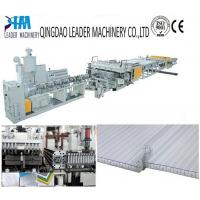 China UV protected PC twin wall/honeycomb sheet extrusion line wholesale