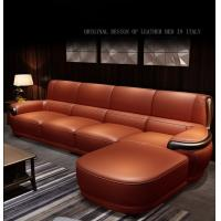 China High End Nordic Style Leather Sofa Multi Seater For 5 Star Hotel / Home wholesale