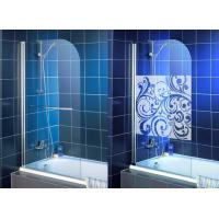 China High Purity Clear Bath Shower Screen , Single Tempered Glass Panel on sale