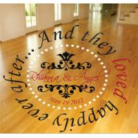 China cheap dance floor decals wholesale