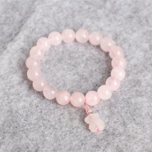 China 8mm Precious Stone Bracelets Attractive White Bead Bracelet For Wedding wholesale
