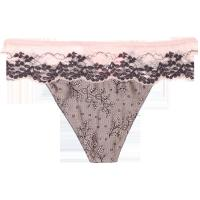 China Classical Jacquard Satin Sexy Woman Thongs  Embroidery Lace For Adult wholesale