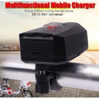 China DC 12-85V Easy To Install Double Port Motorcycle USB Charger Output 5V 2.4A Motorcycle Cell Phone Charger on sale