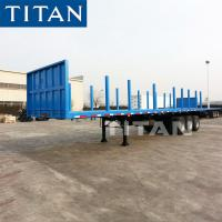 China TITAN 3 axle Wood/Log/Timber Transport/Transporting flatbed Semi Trailer on sale