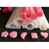 China Custom Long Tube Soft Handmade Silicone Molds Moon / Heart  / Round Shaped wholesale
