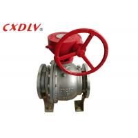China DN150 6 Inch 2PC Trunnion Ball Valve CF8M Stainless Steel Split Body Price wholesale