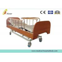 China Three-function Electric Medical Hospital Beds , Home Care Bed with Bumper Dinning Table (ALS-HE003) wholesale