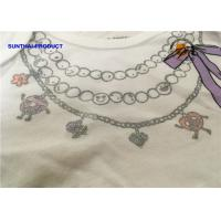 Quality Fashion Necklace Screen Print Tee Long Sleeve Envelop 100% Cotton Baby Girl Top for sale