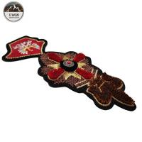 China Size Customized 3D Embroidery Patches Toothbrush Material With Sew On /  Iron On Backing wholesale