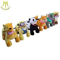 China Hansel  coin operated plush ride on toy dog walking machine for outdoor playground wholesale