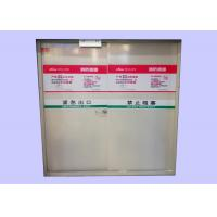 China Customized Sizes 40/45/55 mm Galvanized Steel Fire Rated Emergency Exit Metal Doors wholesale