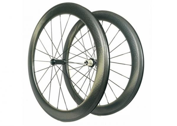 Quality Tubuless Toray 700 700c Carbon Road Bike Wheels 58mm With Basalt Brake Surface for sale