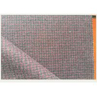China Red And Gray Tartan Wool Fabric Houndstooth Classical For Mens Formal Suits on sale